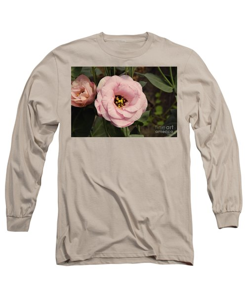 Pink Flowers Long Sleeve T-Shirt by Elvira Ladocki
