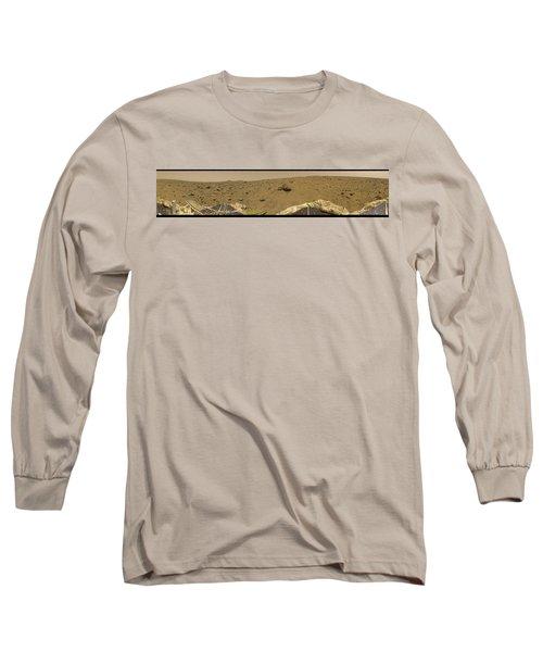 360 Degree Panorama Mars Pathfinder Landing Site Long Sleeve T-Shirt