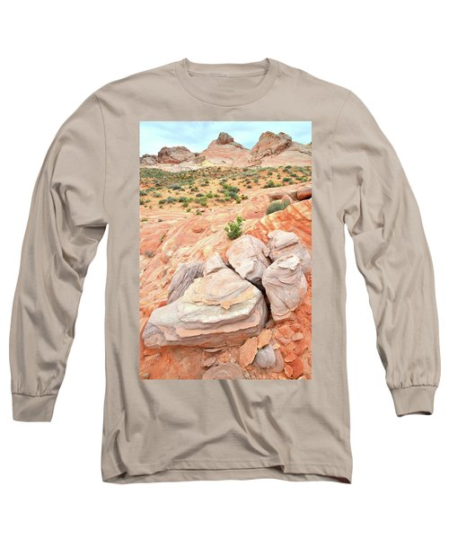 Long Sleeve T-Shirt featuring the photograph Multicolored Sandstone In Valley Of Fire by Ray Mathis