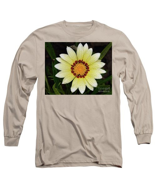 Nice Gazania Long Sleeve T-Shirt by Elvira Ladocki