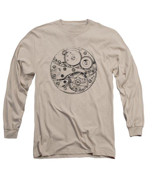 Long Sleeve T-Shirt featuring the digital art Clockwork Mechanism by Michal Boubin
