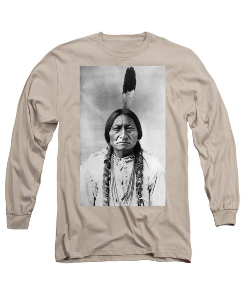 Sitting Bull 1834-1890. To License For Professional Use Visit Granger.com Long Sleeve T-Shirt