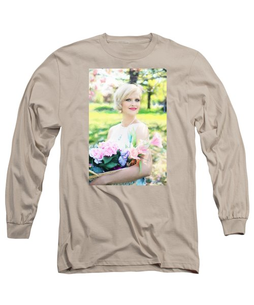 Vintage Val Magnolias Long Sleeve T-Shirt