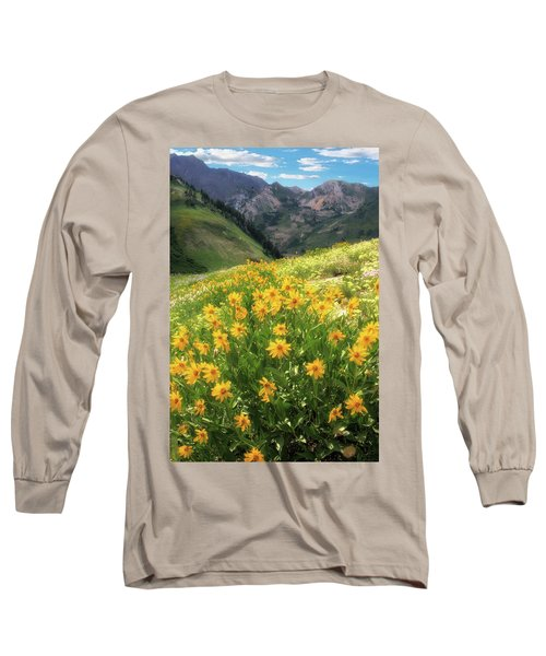 Albion Basin Wildflowers Long Sleeve T-Shirt