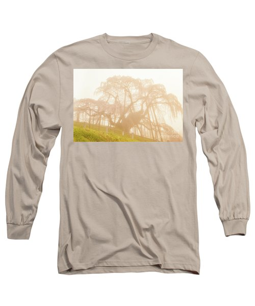 Long Sleeve T-Shirt featuring the photograph Miharu Takizakura Weeping Cherry06 by Tatsuya Atarashi