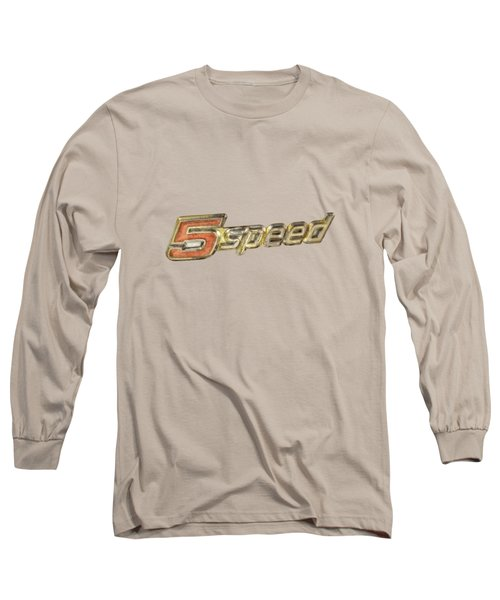 5 Speed Chrome Emblem Long Sleeve T-Shirt