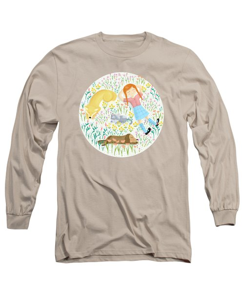 Summer Afternoon With Dogs, Cats And Clouds Long Sleeve T-Shirt