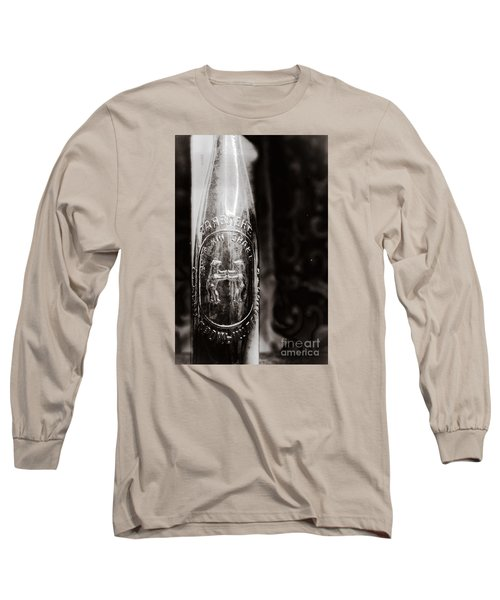 Vintage Beer Bottle #0854 Long Sleeve T-Shirt by Andrey  Godyaykin