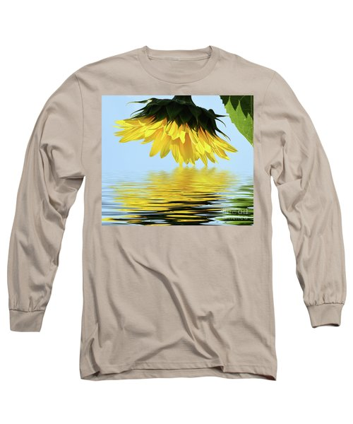 Nice Sunflower Long Sleeve T-Shirt by Elvira Ladocki