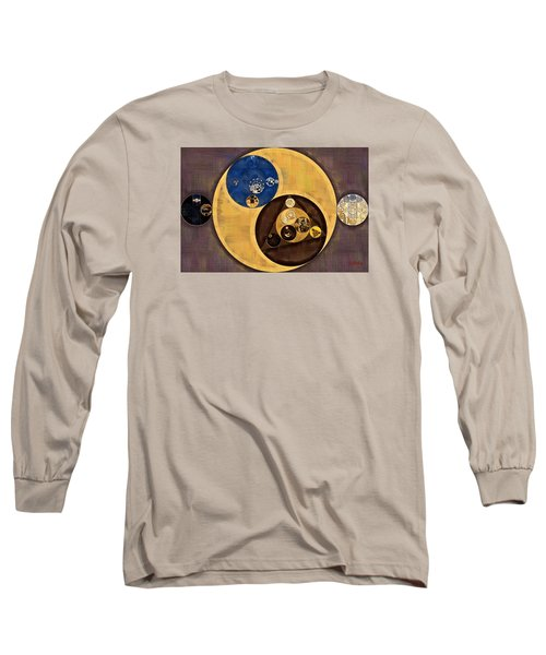 Long Sleeve T-Shirt featuring the photograph Abstract Painting - Zinnwaldite Brown by Vitaliy Gladkiy