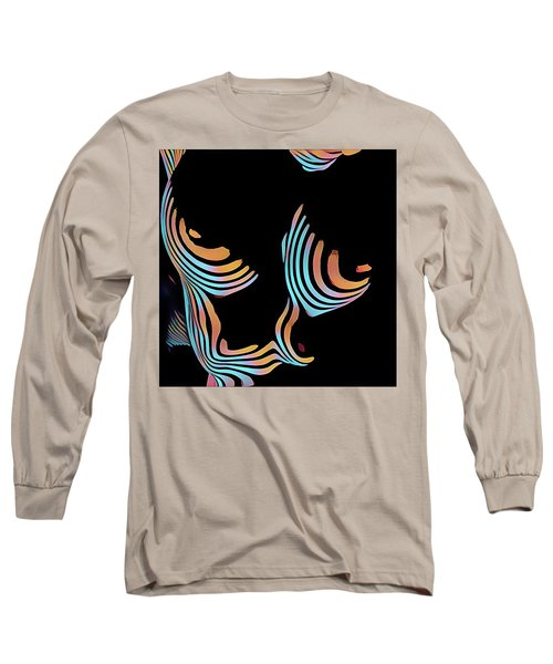 5126s-mak Large Breasts Ribs Abstract View Rendered In Composition Style Long Sleeve T-Shirt