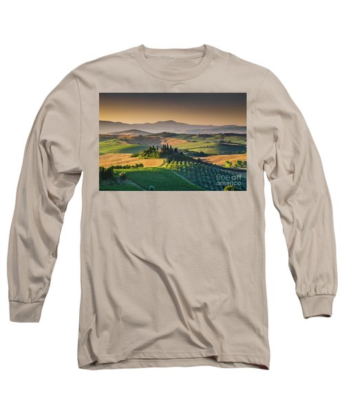 A Morning In Tuscany Long Sleeve T-Shirt