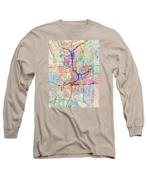 Atlanta Georgia City Map Long Sleeve T-Shirt