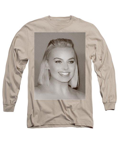 Hollywood Star Margot Robbie Long Sleeve T-Shirt
