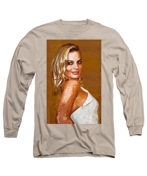 Margot Robbie Art Long Sleeve T-Shirt