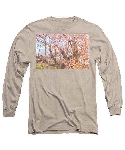 Long Sleeve T-Shirt featuring the photograph Miharu Takizakura Weeping Cherry07 by Tatsuya Atarashi