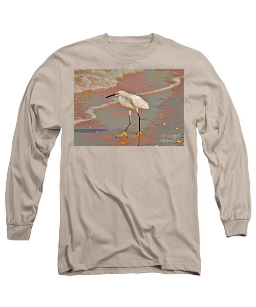 Long Sleeve T-Shirt featuring the photograph 6- Snowy Egret by Joseph Keane