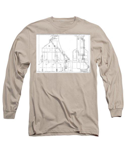 600 Ton Coaling Tower Plans Long Sleeve T-Shirt