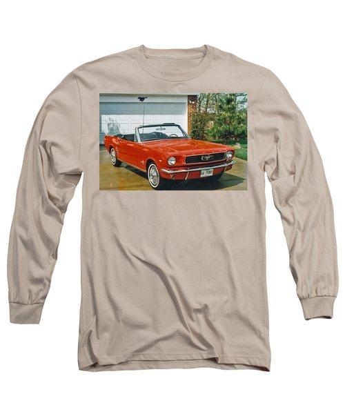 66 Mustang Convertable Long Sleeve T-Shirt