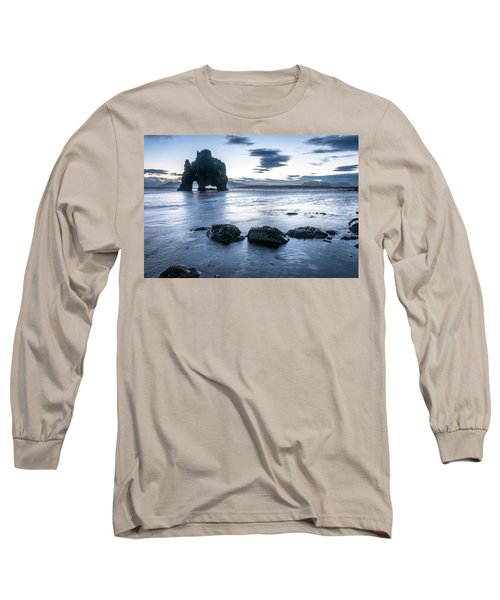 Dinosaur Rock Beach In Iceland Long Sleeve T-Shirt