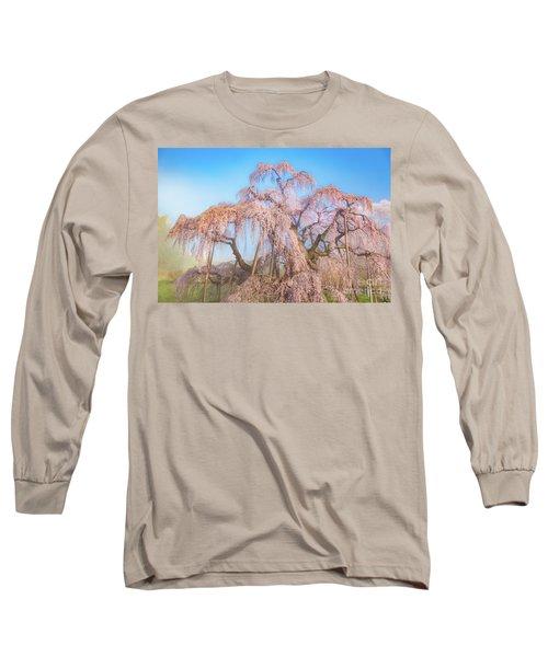 Long Sleeve T-Shirt featuring the photograph Miharu Takizakura Weeping Cherry29 by Tatsuya Atarashi