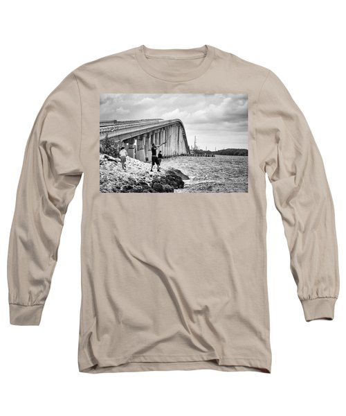 7 Mile Bridge B_w Long Sleeve T-Shirt