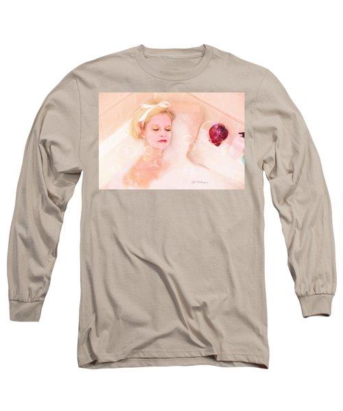 Vintage Valentine Date Long Sleeve T-Shirt by Jill Wellington