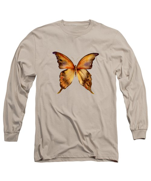 7 Yellow Gorgon Butterfly Long Sleeve T-Shirt by Amy Kirkpatrick