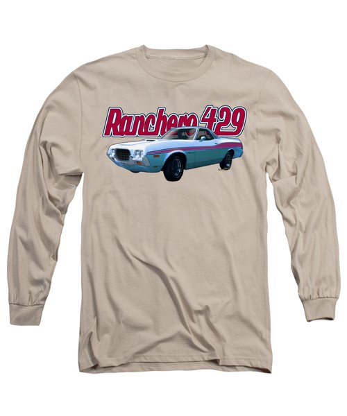 72 Ford Ranchero By The Sea Long Sleeve T-Shirt
