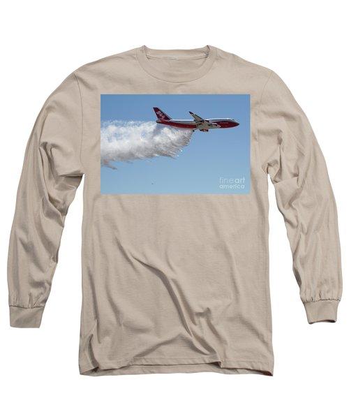 747 Supertanker Drop Long Sleeve T-Shirt by Bill Gabbert