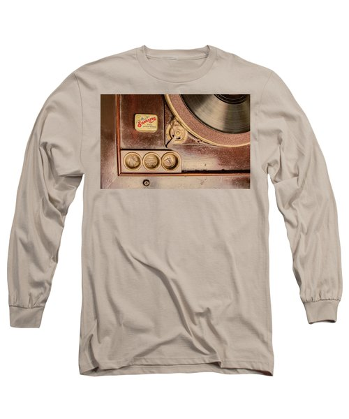 Long Sleeve T-Shirt featuring the photograph 78 Rpm And Accessories by Gary Slawsky