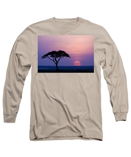 African Sunrise Long Sleeve T-Shirt