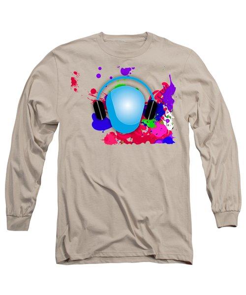Music Long Sleeve T-Shirt by Marvin Blaine