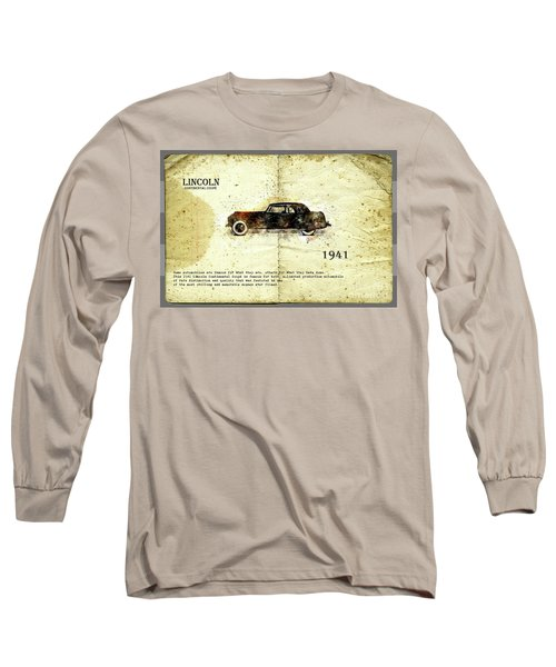 Retro Car In Sketch Style Long Sleeve T-Shirt