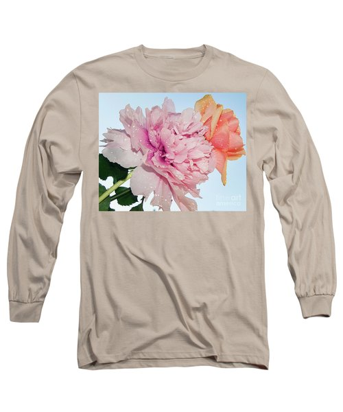 Two Flowers Long Sleeve T-Shirt by Elvira Ladocki
