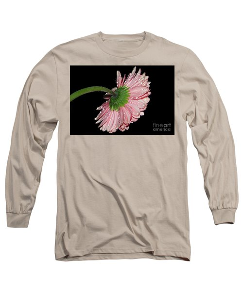 Pink Gerber Long Sleeve T-Shirt by Elvira Ladocki