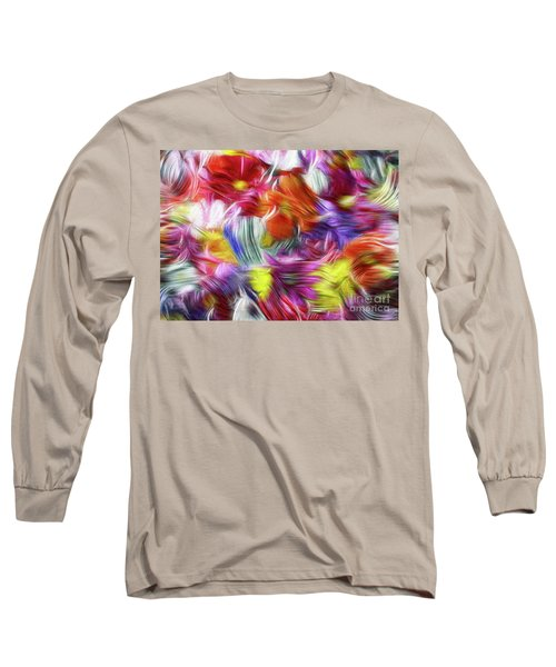 9a Abstract Expressionism Digital Painting Long Sleeve T-Shirt