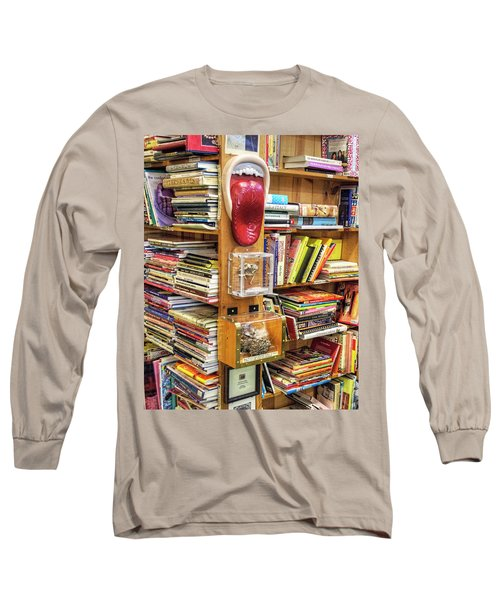 A Bookstore For All Tastes Long Sleeve T-Shirt by Greg Sigrist