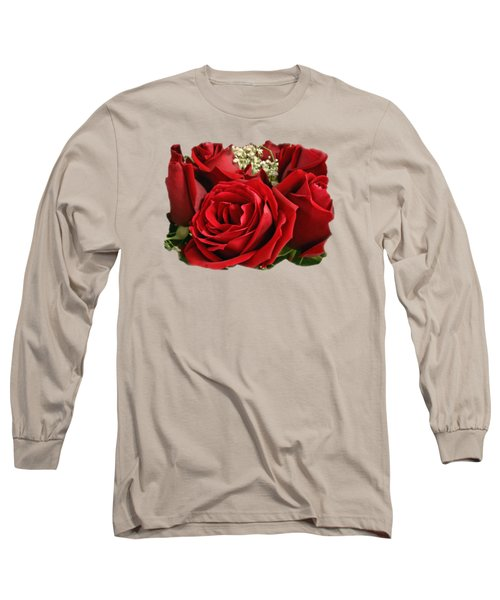 A Bouquet Of Red Roses Long Sleeve T-Shirt by Sue Melvin