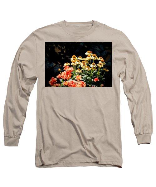 A Bright Flower Patch Long Sleeve T-Shirt