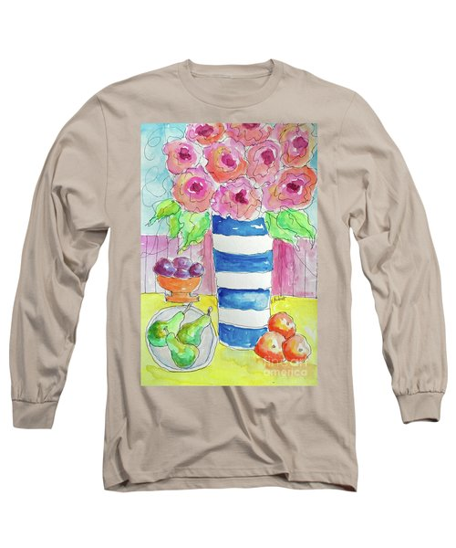 Fruit Salad Long Sleeve T-Shirt by Rosemary Aubut
