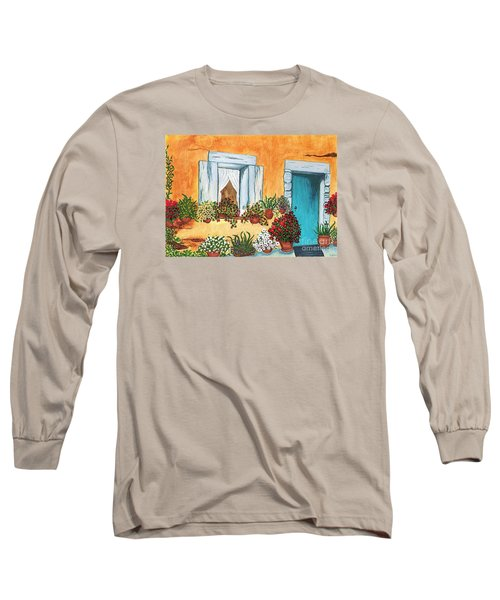 Long Sleeve T-Shirt featuring the painting A Cottage In The Village by Patricia Griffin Brett