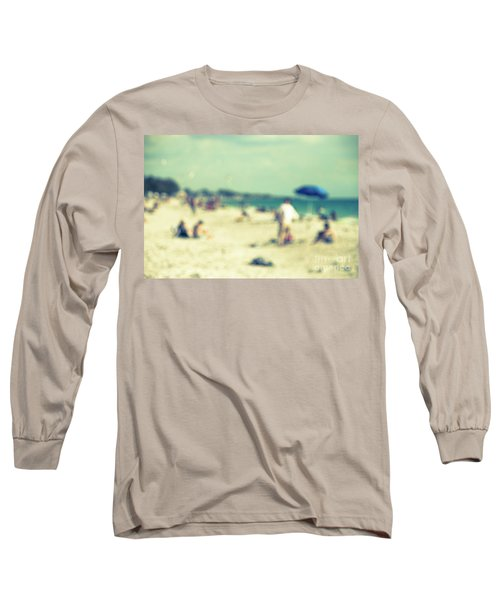 Long Sleeve T-Shirt featuring the photograph a day at the beach I by Hannes Cmarits