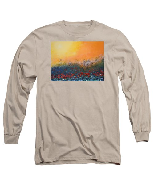 Long Sleeve T-Shirt featuring the painting A Field In Bloom by Dan Whittemore