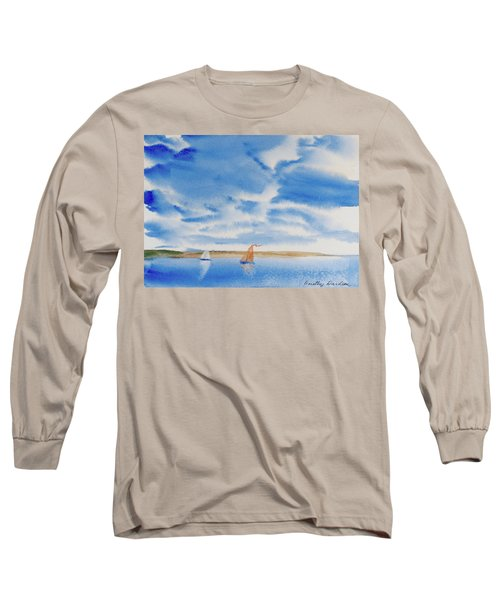 A Fine Sailing Breeze On The River Derwent Long Sleeve T-Shirt