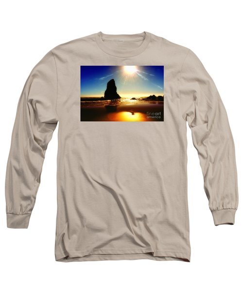 A Fire In The Sky Long Sleeve T-Shirt by Scott Cameron