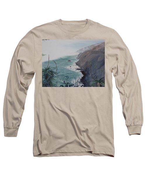 A Fog Creeps In Long Sleeve T-Shirt by Barbara Barber