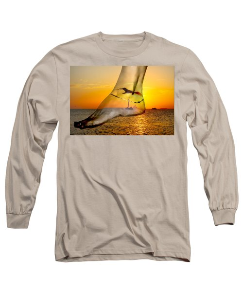 A Foot In The Sunset Long Sleeve T-Shirt