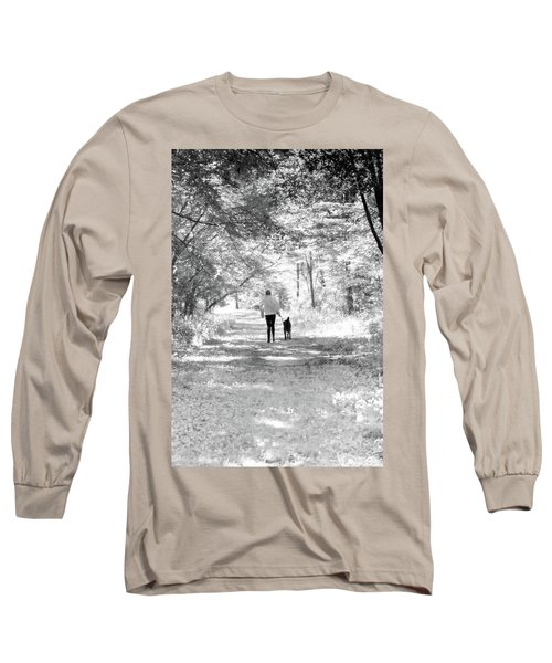 A Girl And Her Dog Long Sleeve T-Shirt