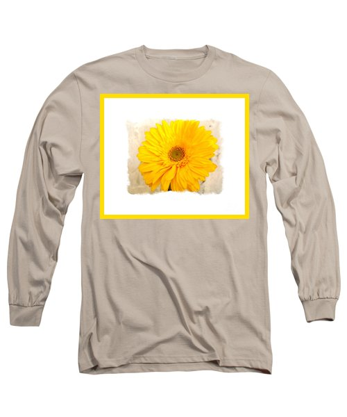 Long Sleeve T-Shirt featuring the photograph A Grand Yellow Gerber by Marsha Heiken